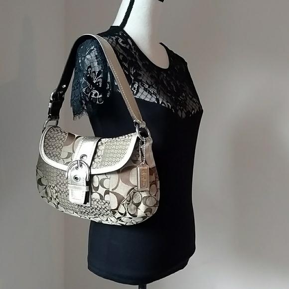 Coach Handbags - Coach Gold Shoulder Bag